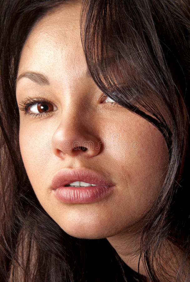 Nahaufnahme schönen Gesicht ll lizenzfreie stockbilder