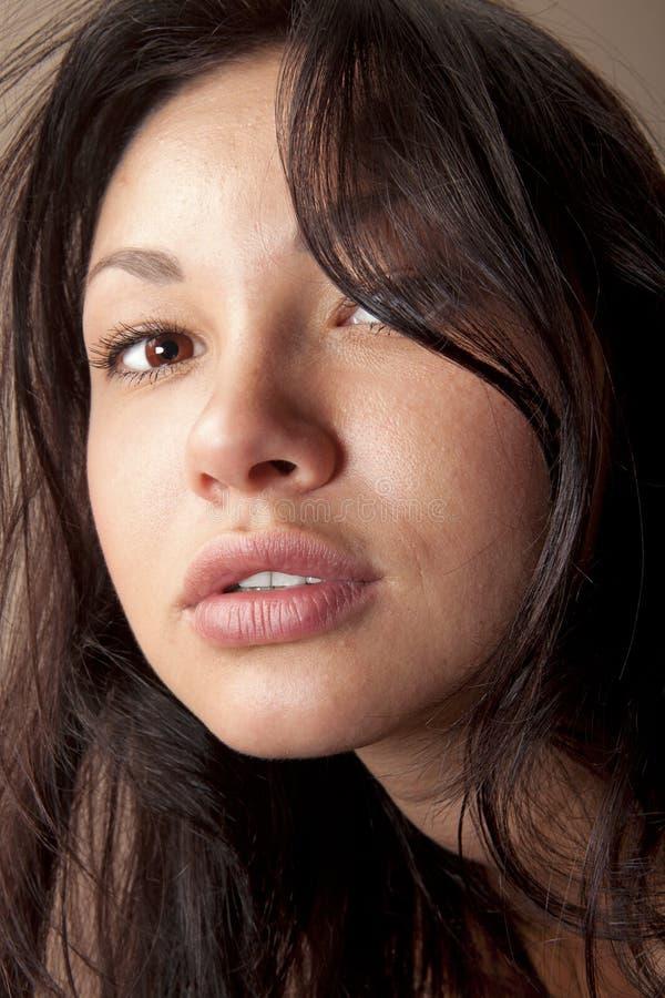 Nahaufnahme schönen Gesichtes w stockfoto