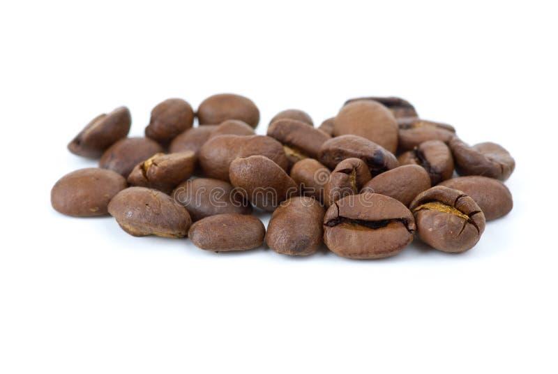 Nahaufnahme schoss von den Kaffeebohnen stockbilder