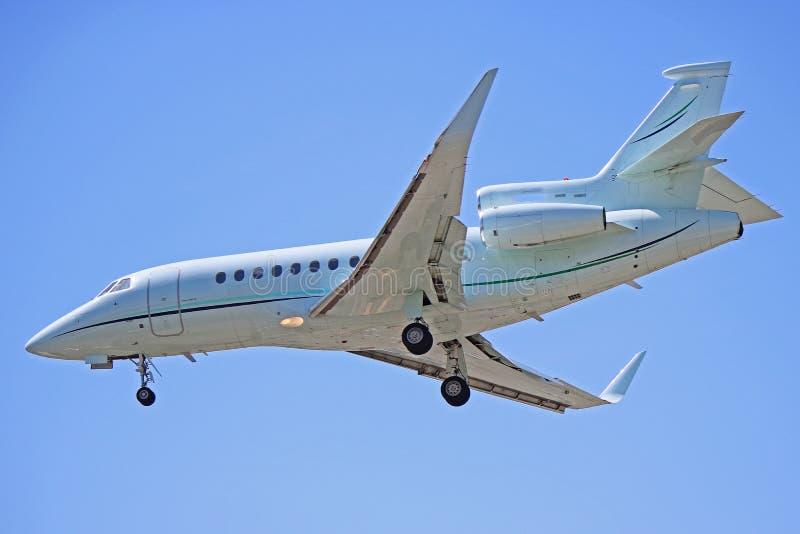 Nahaufnahme-Seitenansicht Dassault-Falke-900EX lizenzfreie stockbilder