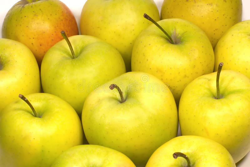 Nahaufnahme vieler frische geschmackvolle Äpfel lizenzfreie stockfotografie