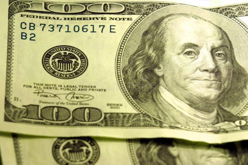 Nahaufnahme Von $100 Rechnungen Stockbilder