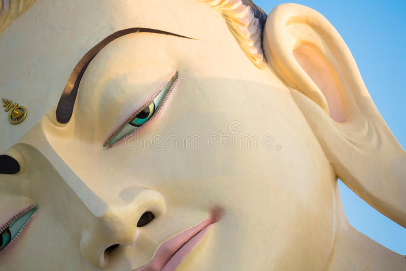 Nahaufnahme von Buddha-Skulptur lizenzfreies stockfoto
