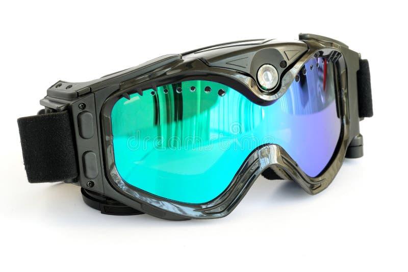 Nahaufnahme von Digital-Schnee-Schutzbrillen lizenzfreie stockfotos