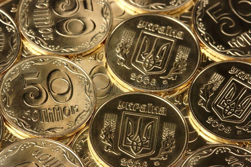 Nahaufnahme von goldene Münzen lizenzfreie stockbilder