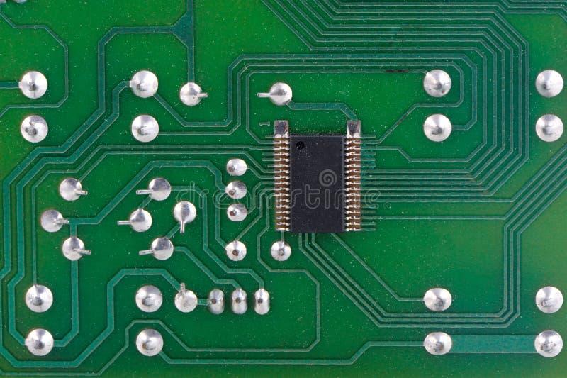 Nahaufnahme von PWB Brett der elektronischen Schaltung lizenzfreies stockbild