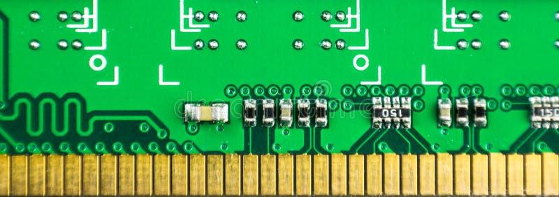 Nahaufnahme von RAM-Gedächtnis-PC-Computerteil Gegenstand stockfotografie