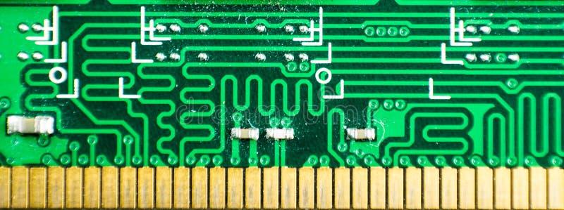 Nahaufnahme von RAM-Gedächtnis-PC-Computerteil Gegenstand lizenzfreie stockfotos