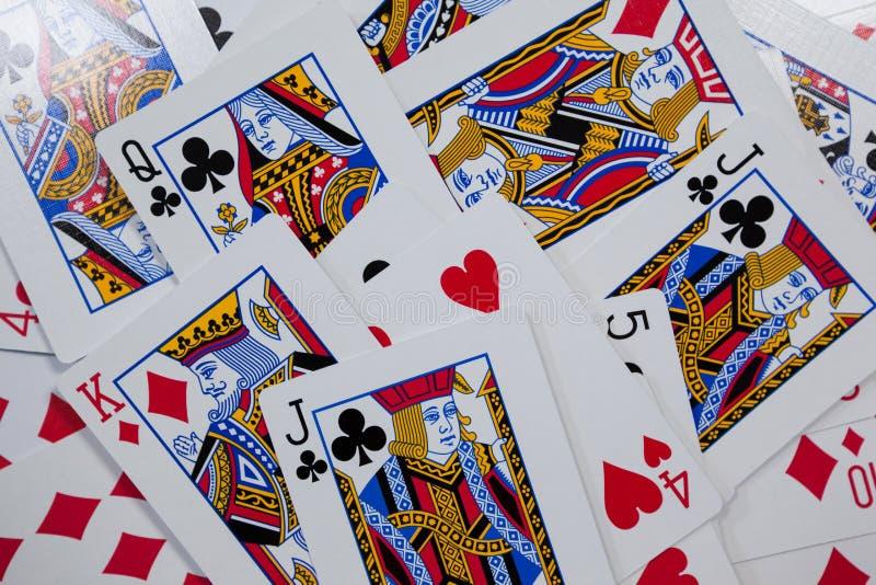 Nahaufnahme von Spielkarten stockbilder