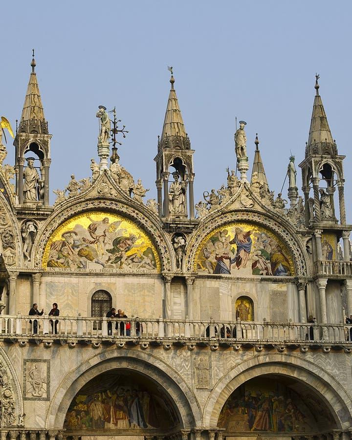 Nahaufnahme von St- Mark` s Basilika, Venedig lizenzfreies stockfoto
