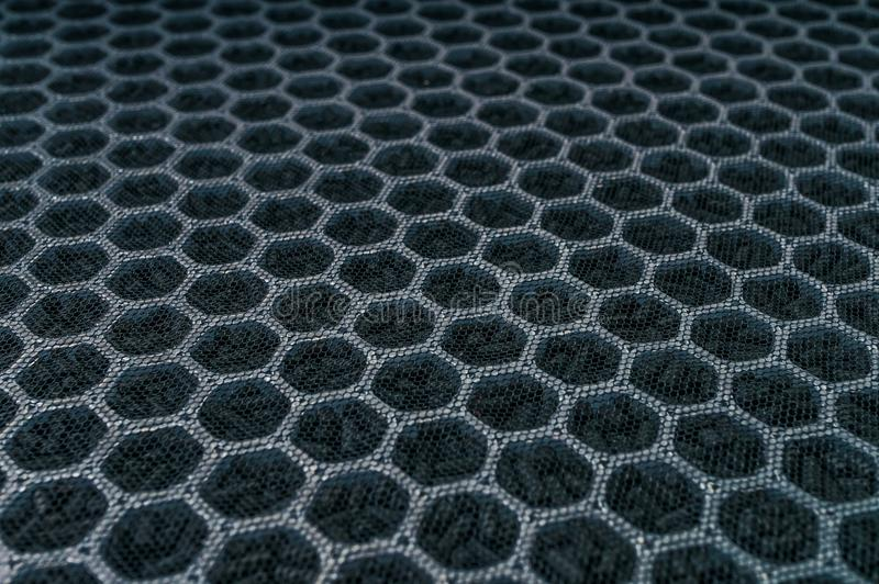 Nahaufnahmeansicht über Kohlenstoffluftfilter für HVAC-Technologie stockfotografie