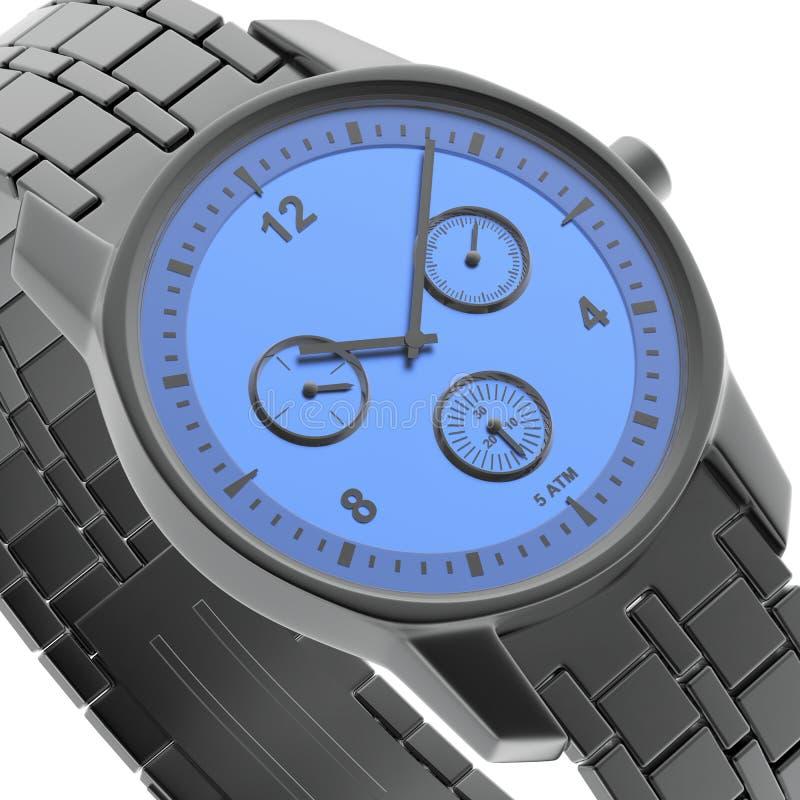 Nahaufnahmeansicht der Uhr vektor abbildung
