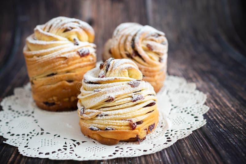 Nahaufnahmeansicht von Ostern-Kuchen Kraffin lizenzfreies stockfoto