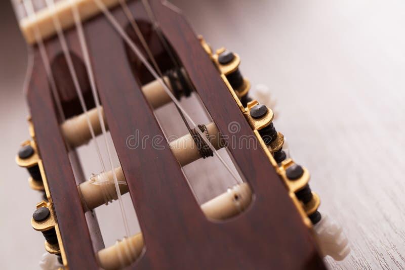 Nahaufnahmebild von Gitarre Fingerboard lizenzfreie stockbilder