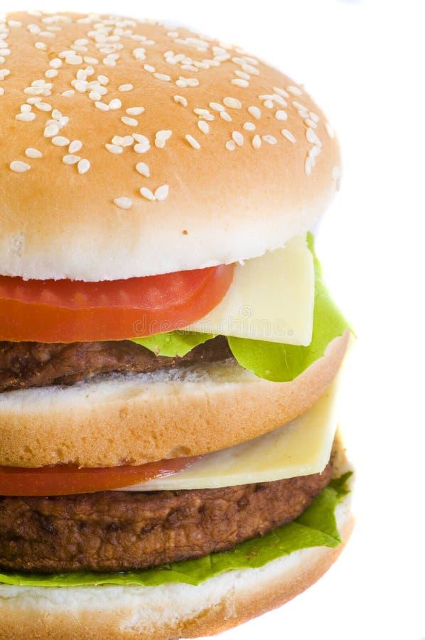 Nahaufnahmeburger lizenzfreies stockfoto