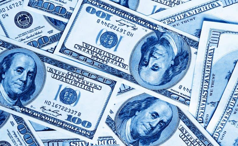 Nahaufnahmegeld-Dollarhintergrund stockfoto