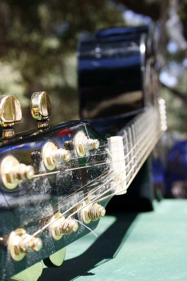 Nahaufnahmegitarre stockbild