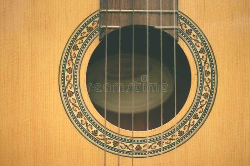 Nahaufnahmeklassikergitarre lizenzfreies stockbild