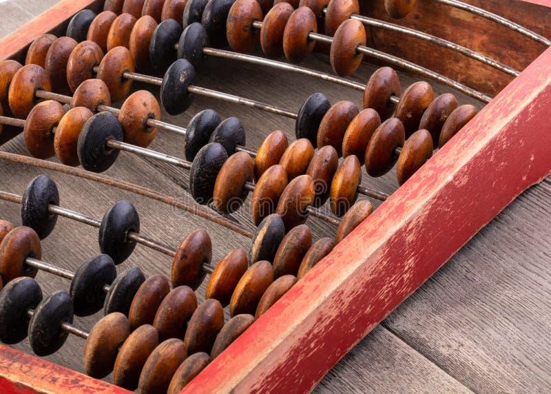Nahaufnahmemakrofoto des Weinleseabakusses lizenzfreies stockbild