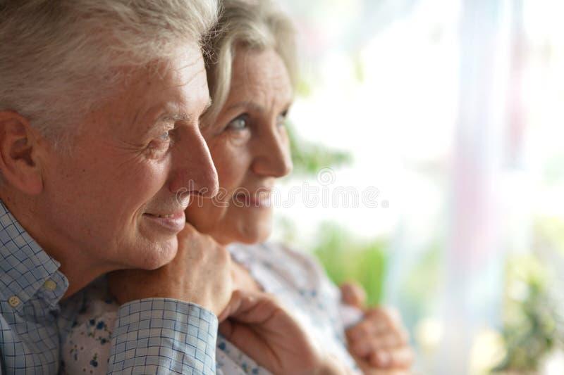 Nahaufnahmeporträt eines glücklichen Seniors lizenzfreies stockfoto