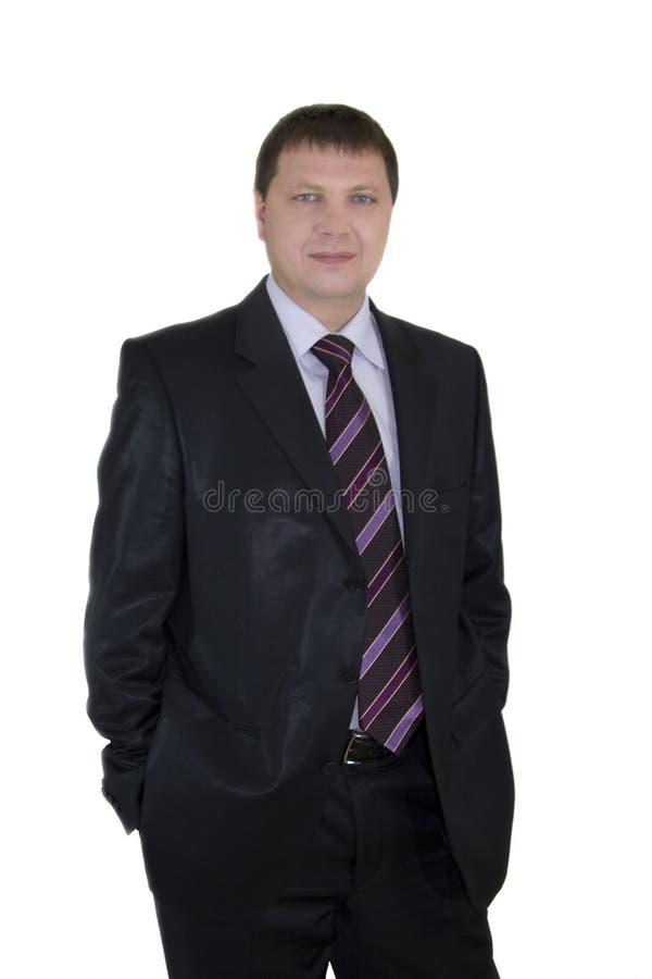 Nahaufnahmeportrait des stattlichen Geschäftsmannes lizenzfreie stockbilder