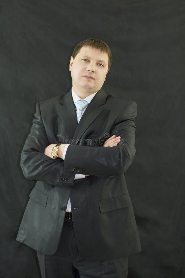 Nahaufnahmeportrait des stattlichen Geschäftsmannes stockbilder