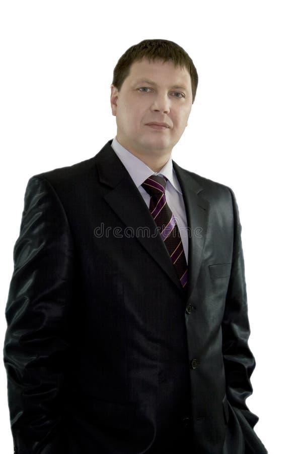 Nahaufnahmeportrait des stattlichen Geschäftsmannes lizenzfreies stockbild