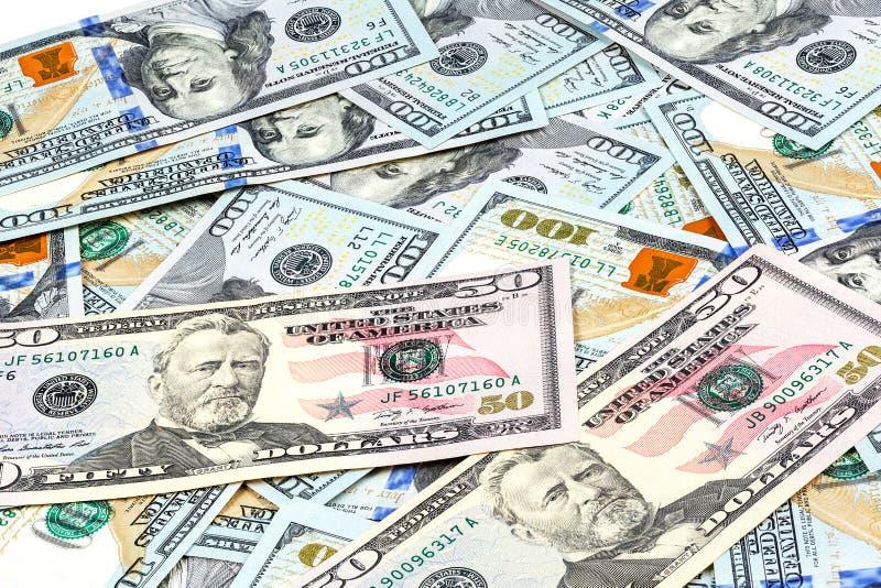 Nahaufnahmeschüsse von hundert Dollar Banknote lizenzfreie stockfotos