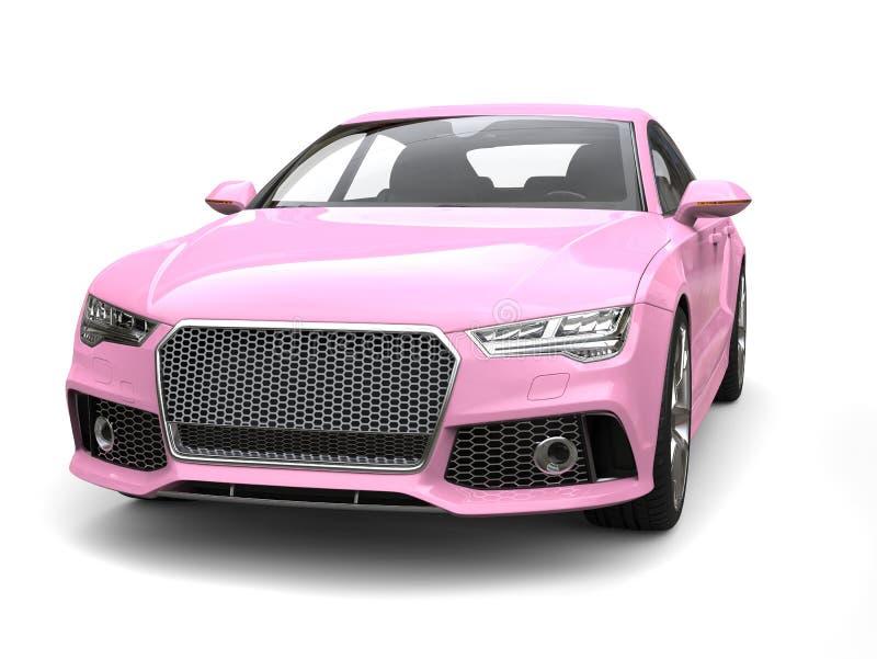 Nahaufnahmeschuß des rosa modernen Geschäfts der Süßigkeit Motor- lizenzfreie abbildung