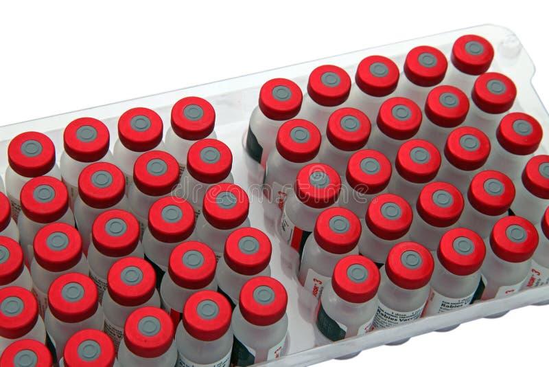 Nahaufnahmeverpackung des Impfstoffs lizenzfreie stockfotografie