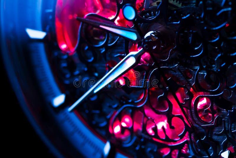 Nahaufnahmevorrichtung der Uhr lizenzfreie stockfotografie