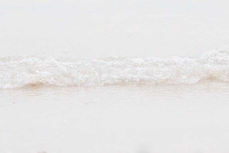 Nahaufnahmewelle auf Strand stockbild