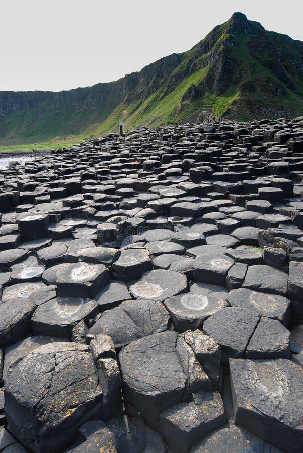 Nahe Ansicht von sechseckigen Steinen an riesiger ` s Damm stockbilder