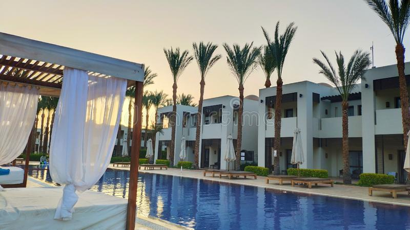 Nahe dem Pool in Ägypten lizenzfreie stockfotografie