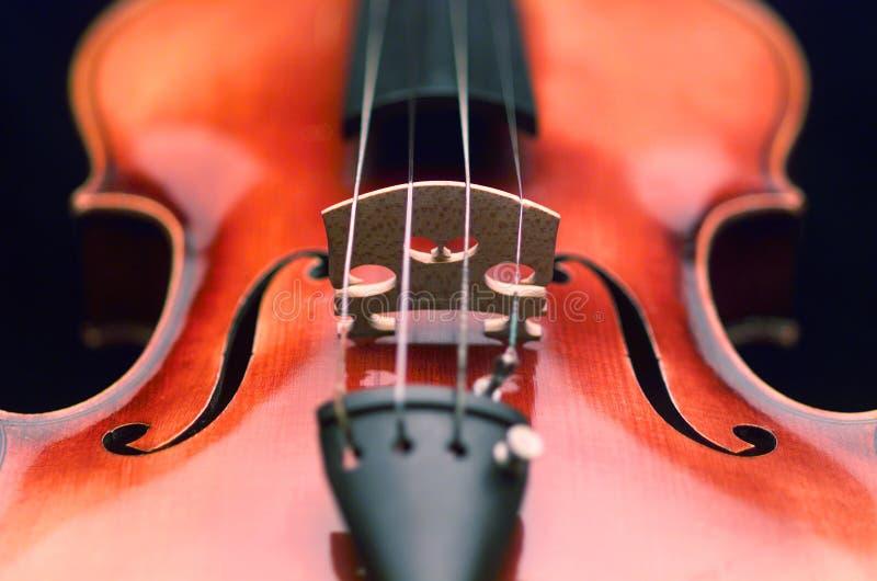 Nahes hohes der Violine stockfotografie