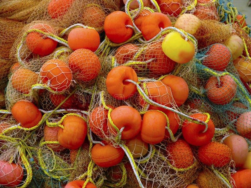 Nahes hohes des Fischernetzes, Kannur Kerala stockbild