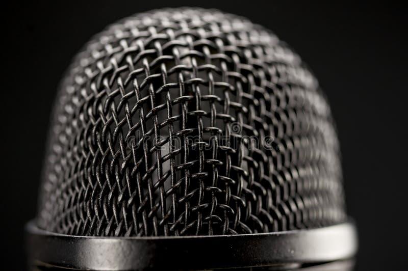 Nahes hohes des Mikrofons lizenzfreies stockfoto