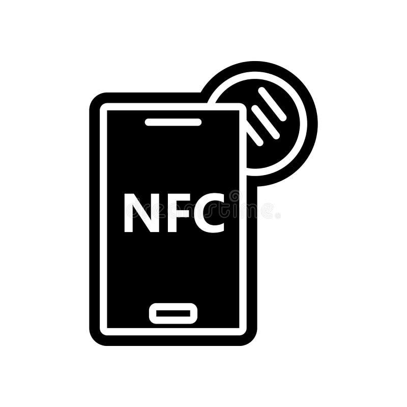 Nahfeldkommunikations-Handyikone Element der Finanzierung f?r bewegliches Konzept und Netz Appsikone Glyph, flache Ikone f?r Webs vektor abbildung