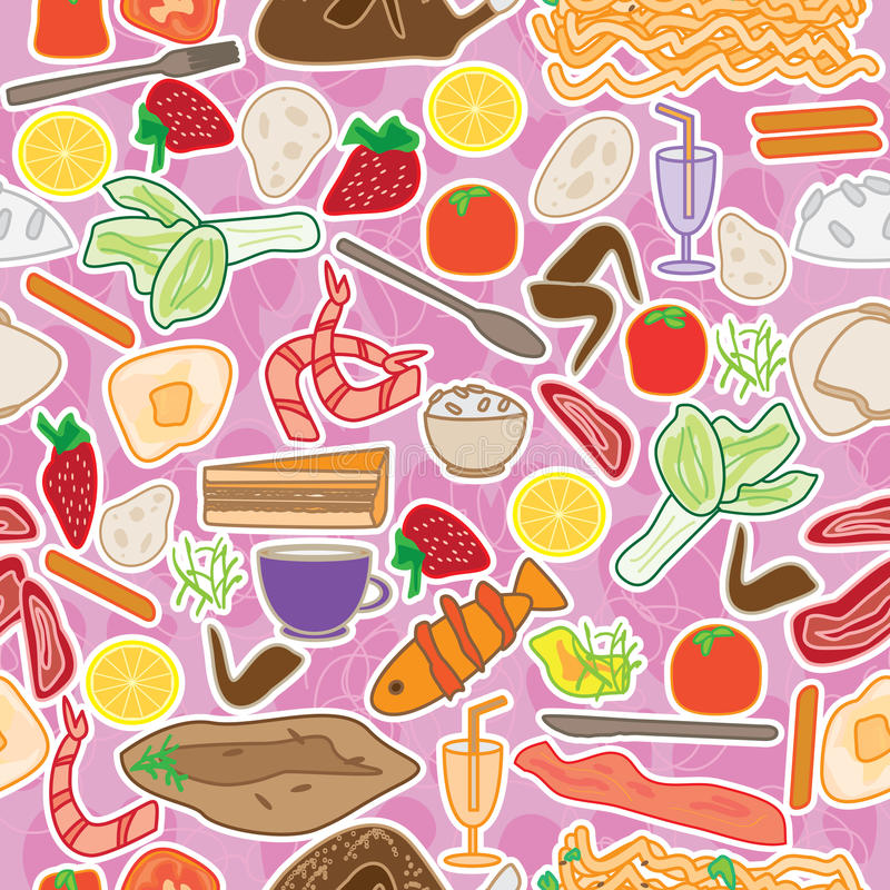 Nahrung auserlesenes nahtloses Pattern_eps lizenzfreie abbildung