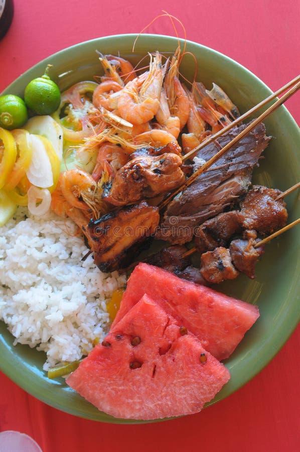 Nahrung in Boracay lizenzfreie stockfotos