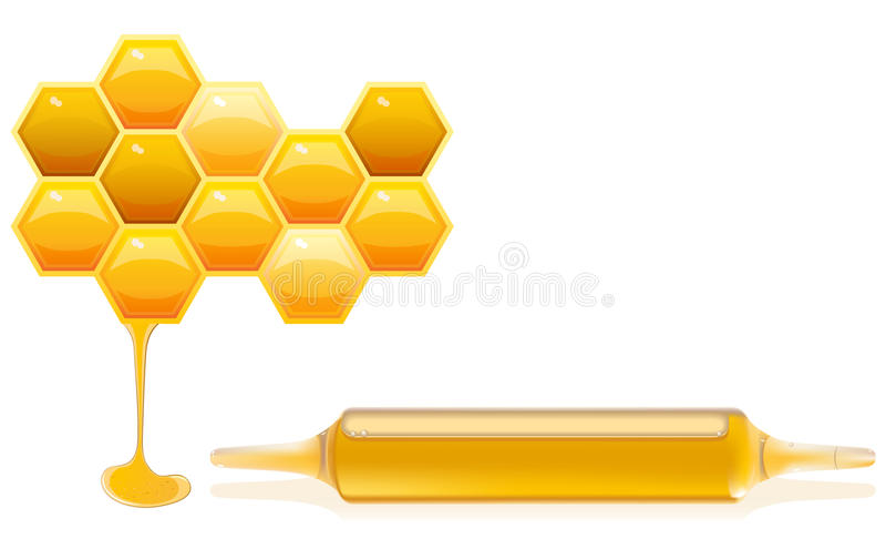 Nahrung ergänzt Honig lizenzfreie abbildung