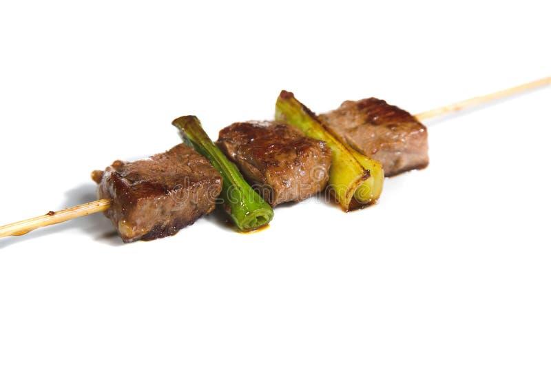 Nahrung - shashlik stockbild