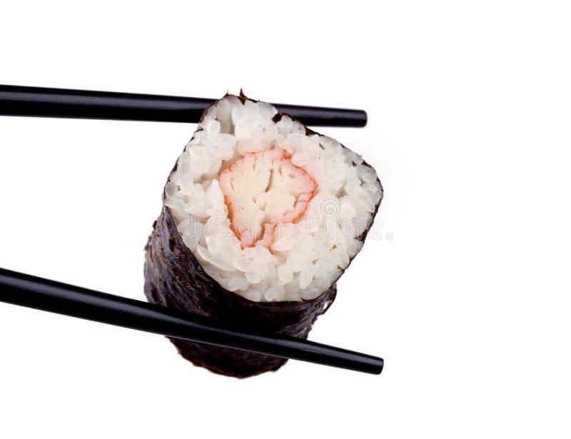 Nahrung - Sushi-Rolle lizenzfreie stockbilder