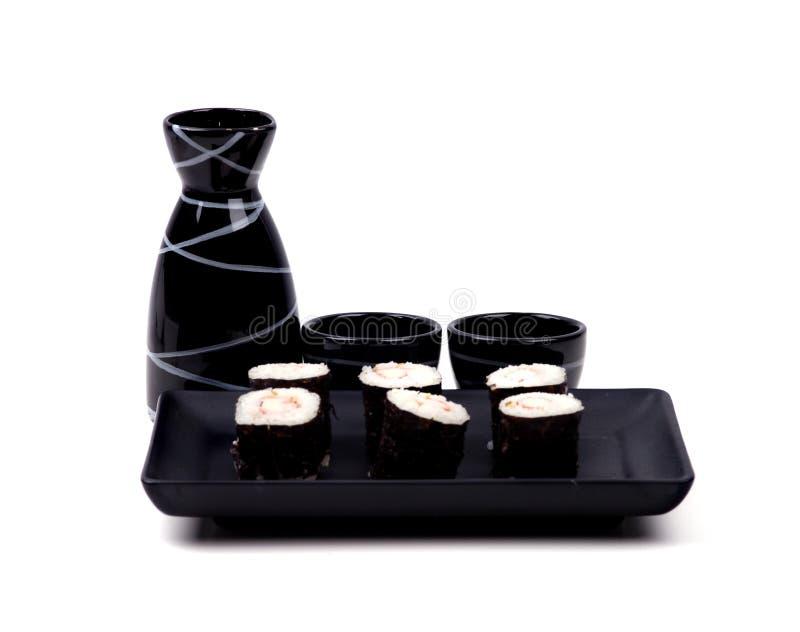 Nahrung - Sushi und Grund stockfotografie