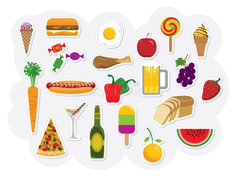 Nahrung und Getränk stock abbildung