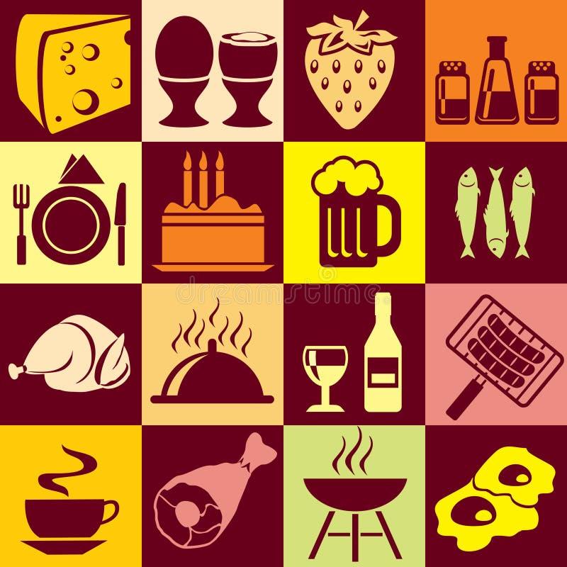 Nahrung und Getränke stock abbildung