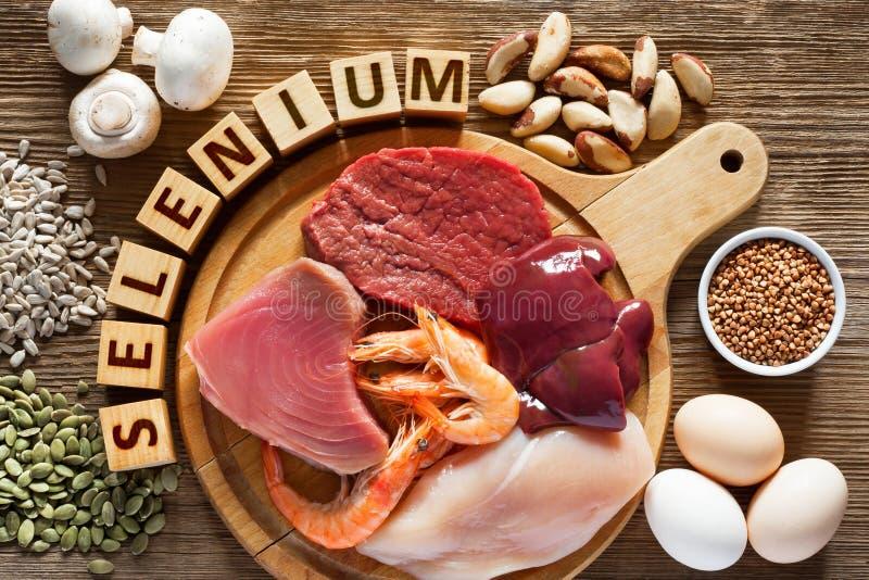 Nahrungsmittel hoch im Selen lizenzfreie stockbilder
