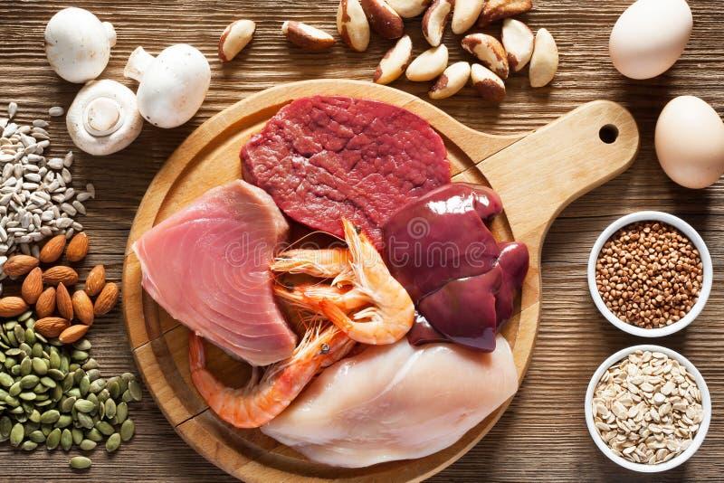 Nahrungsmittel hoch im Selen lizenzfreies stockbild