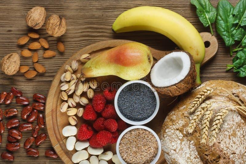 Nahrungsmittel reich in der Faser stockfotografie