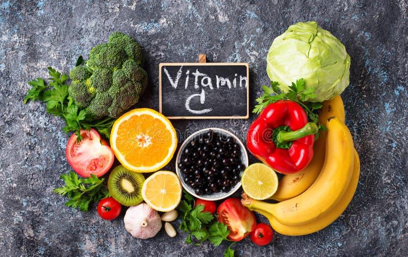 Nahrungsmittel reich im Vitamin C Gesundes Essen lizenzfreie stockfotografie